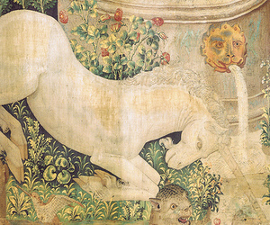 unicorn, tapestry, and chasse image