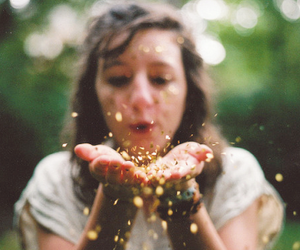 girl, glitter, and blow image