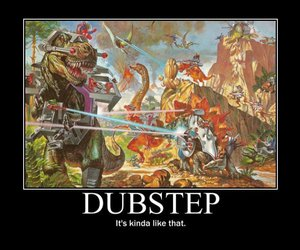 dinosaurs, rave, and dubstep image