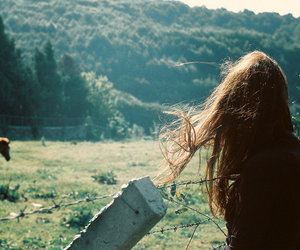 girl, horse, and hair image