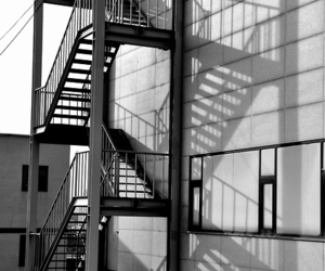 contrast, fire escape, and stairs image