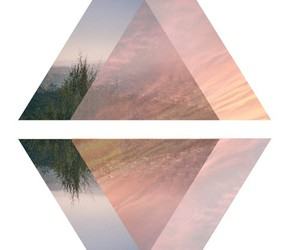 triangle, geometric, and pink image