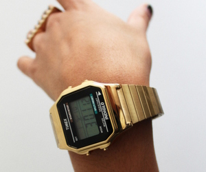 watch, gold, and hand image