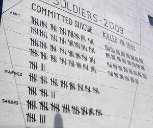 suicide and war image