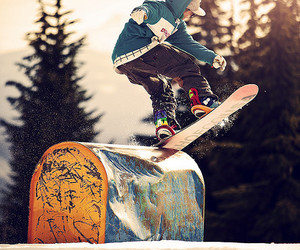 snowboard, snow, and winter image