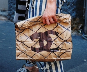 chanel, paperbag, and cool image