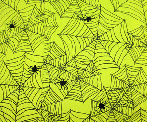 Halloween, lime green, and spiders image