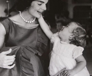 black and white, caroline kennedy, and child image