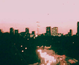 vintage, light, and city image