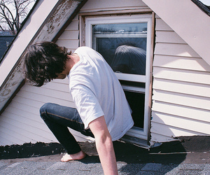 boy, Harry Styles, and window image