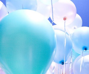 balloons, light, and sky image