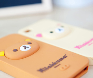 iphone, case, and rilakkuma image