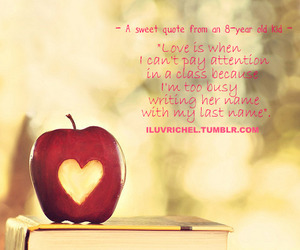 apple, heart, and love quotes image