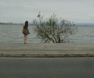 alone, girl, and grey image