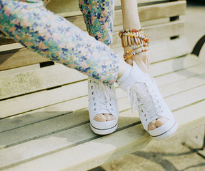 bracelet, converse, and fashion image