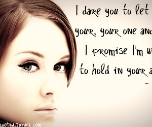 Adele and quote image