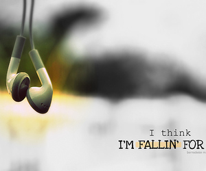 ipod, quote, and fallin' for you image