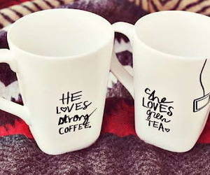 love, coffee, and tea image