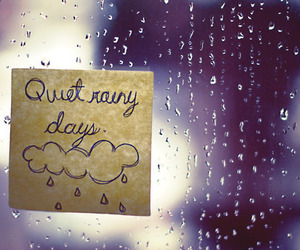 rain, quiet, and window image