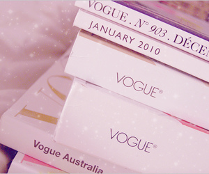 vogue, magazine, and pink image