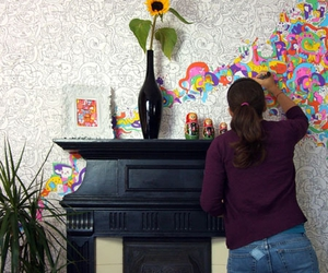 wall, colors, and art image