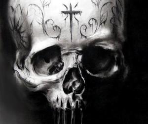 devils, skulls, and evil image