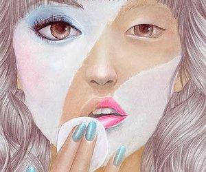 girl, make up, and art image
