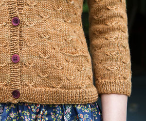 sweater, brown, and buttons image