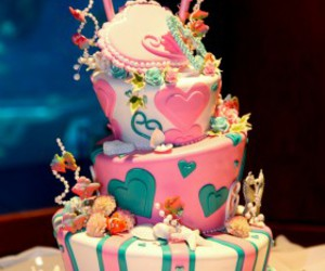 cake, wedding cake, and disney image