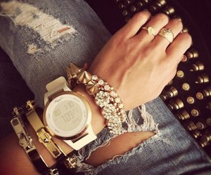 watch, style, and bracelet image