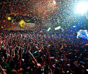 concert, party, and crowd image