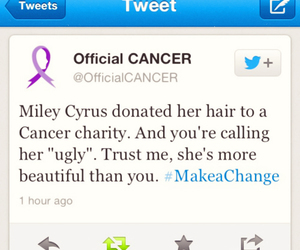 miley cyrus and cancer image