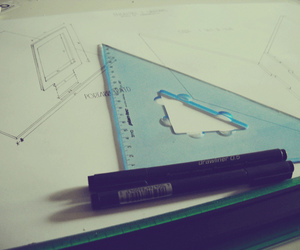 architecture, art, and school supplies image