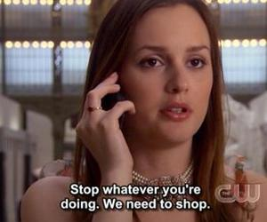 gossip girl, quotes, and shopping image