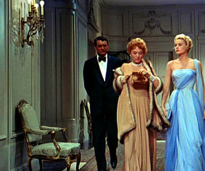 alfred hitchcock, cary grant, and grace kelly image