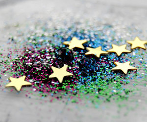 stars, glitter, and gold image
