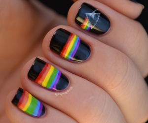 black, color, and nails image