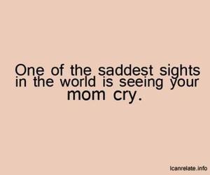 mom, sad, and cry image