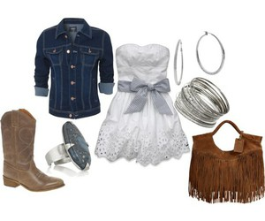 boots, purse, and denim image