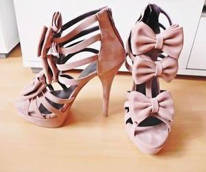 bow, heels, and pastels image