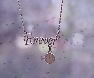 forever, necklace, and clock image