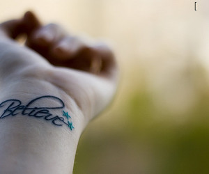 believe, tattoo, and tatoo image