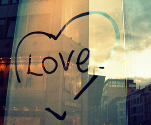 love, heart, and window image