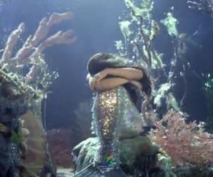 mermaid, sea, and sad image