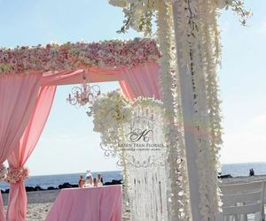 pink, wedding, and beach image