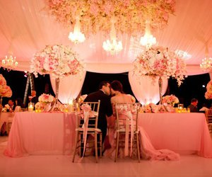wedding, beautiful, and pink image