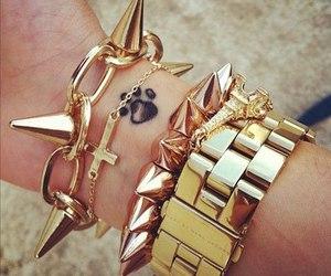 fashion, bracelet, and gold image