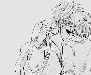 bag, black and white, and kiss image