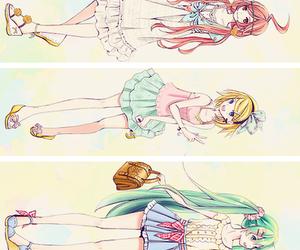 anime, kagamine rin, and skirt image