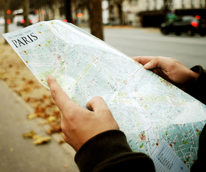 paris, map, and photography image